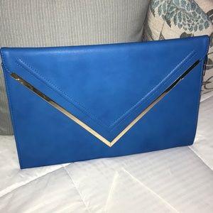 Royal Blue oversized clutch